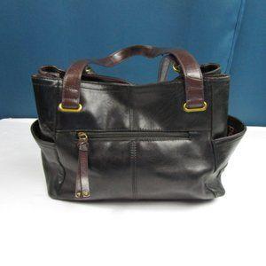 Dark Brown Large Handbag By Tignanello